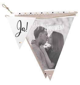 Belarto Bohemian Wedding Trouwkaart in vorm van een slinger met gouddetails