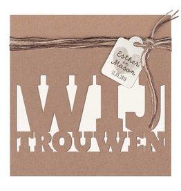Belarto Bohemian Wedding Trouwkaart met kraft-jasje en label en touw