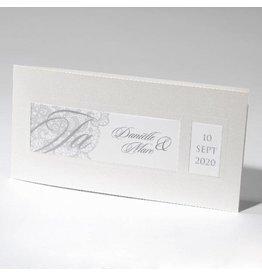 Familycards-Deel je Geluk Trouwkaart, klassiek model met calco papier