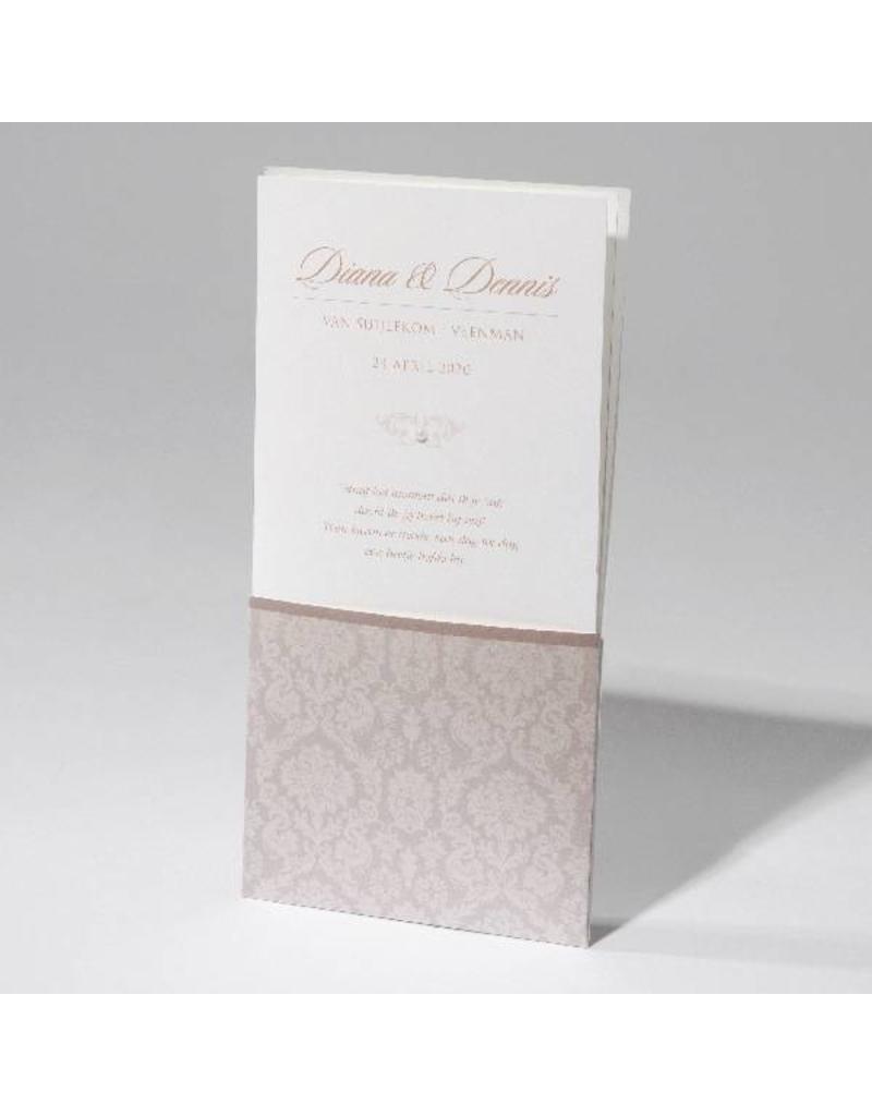 Familycards-Deel je Geluk Trouwkaart in luxe pochet met zelfklevend pareltje (621698)