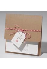 Familycards-Deel je Geluk Trouwkaart Eco met label en koordje (621685)