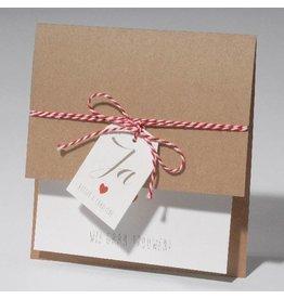 Familycards-Deel je Geluk Trouwkaart Eco met label en koordje