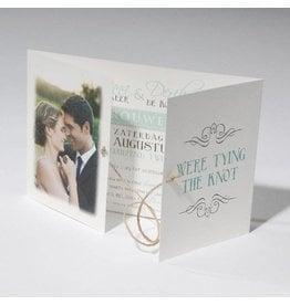 Familycards-Deel je Geluk Trouwkaart tying the knot