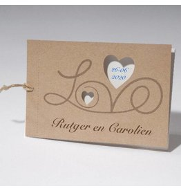 Familycards-Deel je Geluk Trouwkaart LOVE met folie mogelijk
