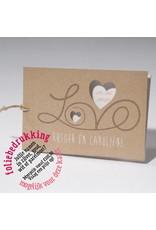 Familycards-Deel je Geluk Trouwkaart LOVE met folie mogelijk (621695)