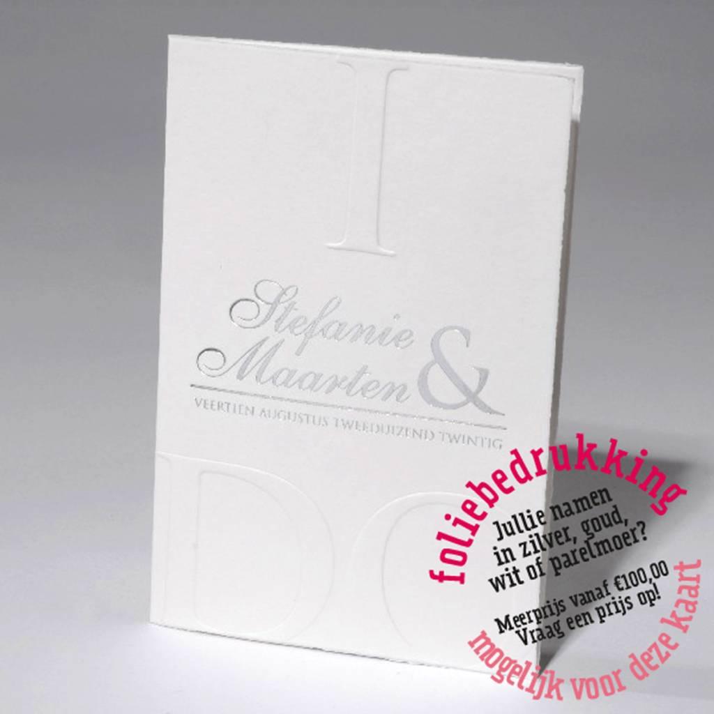 Familycards-Deel je Geluk Trouwkaart I DO met letterpress  (621683)