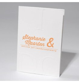Familycards-Deel je Geluk Trouwkaart I DO met letterpress