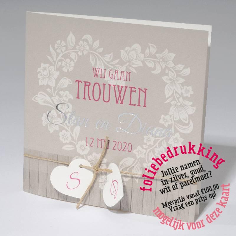 Familycards-Deel je Geluk Trouwkaart steigerhout & hart (621681)