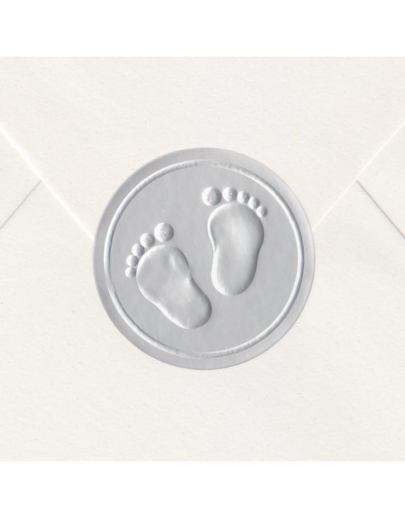 Sluitzegel Zilveren voetjes (715153P)