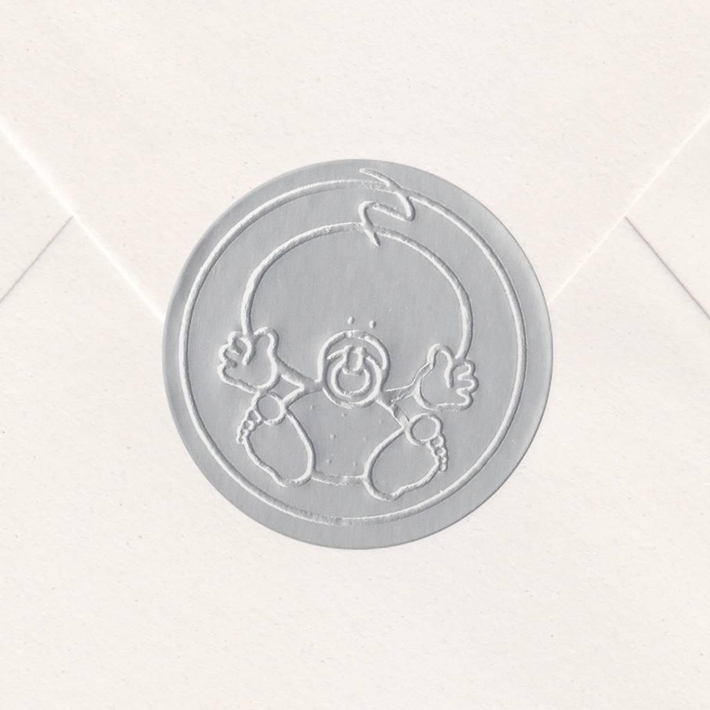 Sluitzegel Zilveren baby (715114P)
