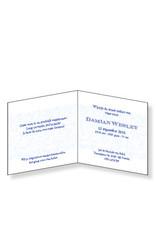 Mare Geboortekaartje met romantische opdruk in blauw (14-070-A)
