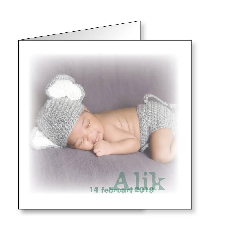 Mare Geboortekaartje met babyfoto (14-310-A)