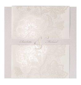 Belarto Jubileum 2016 Uitnodiging elegant met bloemenmotief