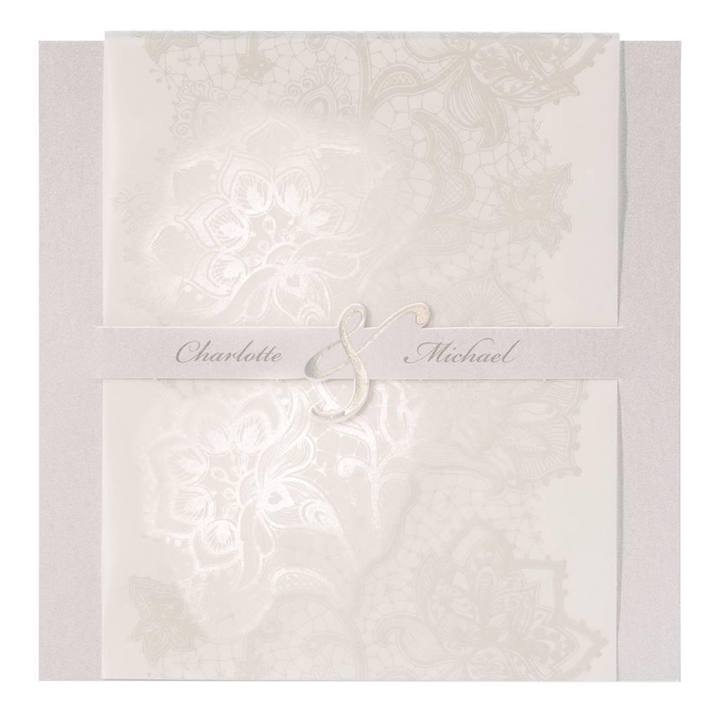 Belarto Jubileum Uitnodiging elegant met bloemenmotief (786112)