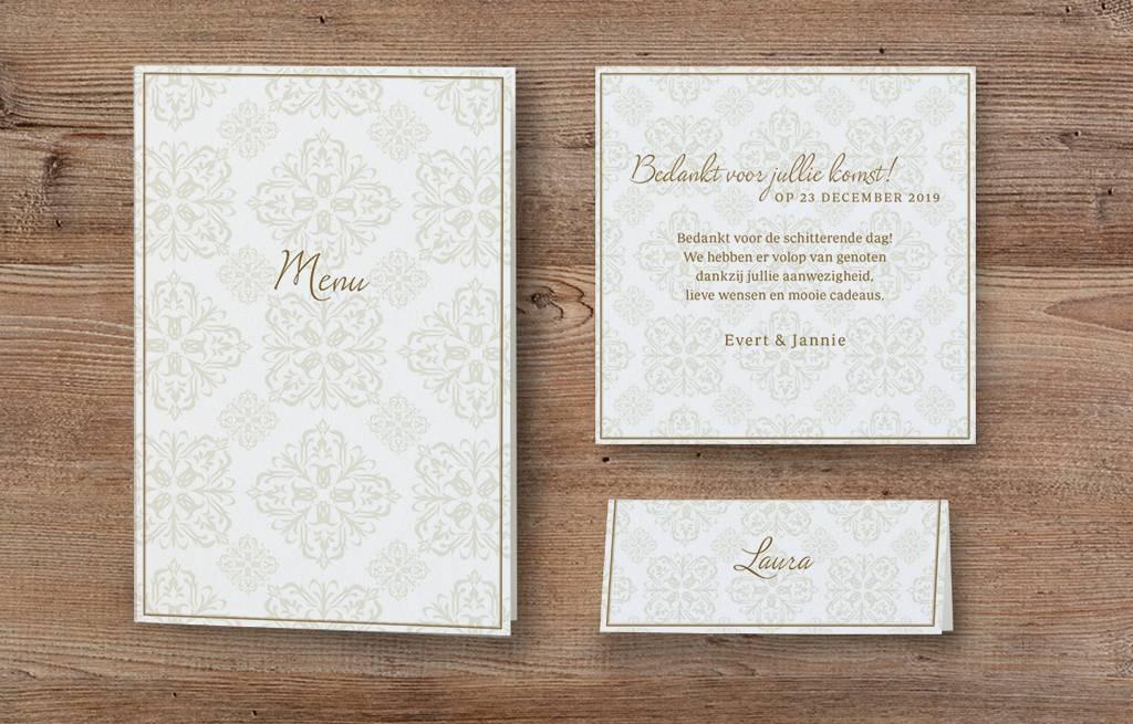 Belarto Jubileum Menukaart passende bij uitnodiging classic (786600)
