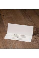 Belarto Jubileum 2016 Uitnodiging classic in envelopstijl met transparante wikkel (786047)