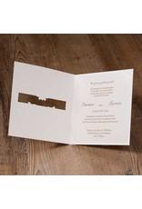 Belarto Jubileum 2016 Uitnodiging classic met doorkijkvenster voor namen of een foto (786020)