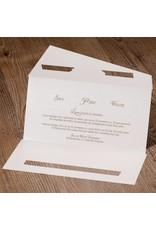 Belarto Jubileum Uitnodiging classic in envelopstijl met voelbare folieroosjes (786018)