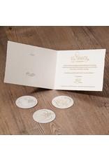 Belarto Jubileum 2016 Uitnodiging classic met romantische foliekrans en zegel (786002)