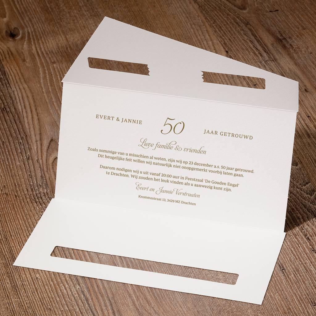 Belarto Jubileum Uitnodiging classic in envelopstijl voor 50ste jubileum of verjaardag (786000)