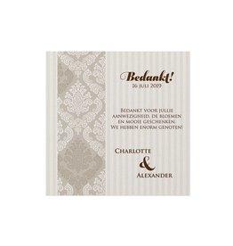 Belarto Jubileum 2016 Save The Date of bedankkaart classic met barok sierlijst