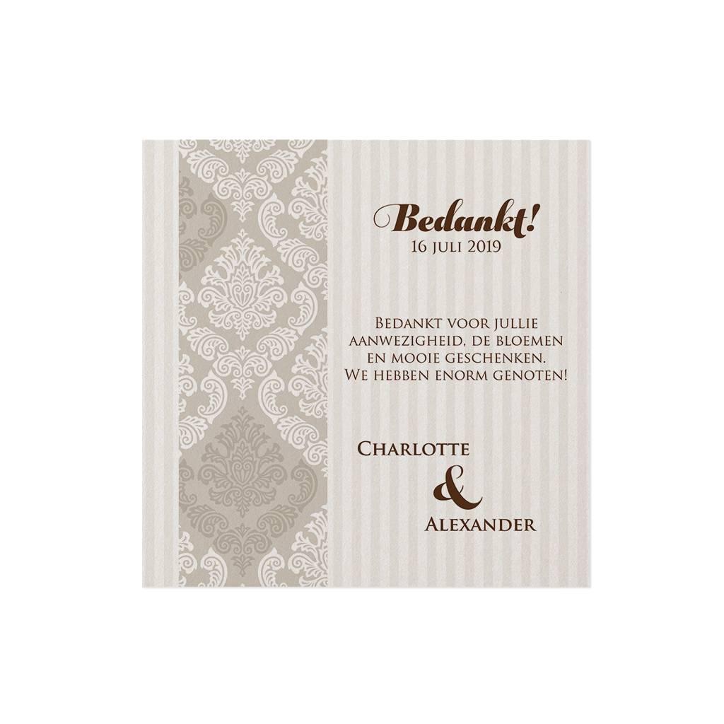 Belarto Jubileum 2016 Save The Date of bedankkaart classic met barok sierlijst (786547)