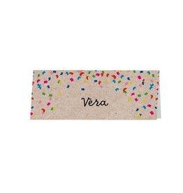 Belarto Jubileum 2016 Tafelkaart CELEBRATE confetti