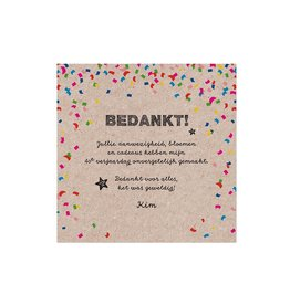 Belarto Jubileum 2016 Save The Date of bedankkaart CELEBRATE in  confetti