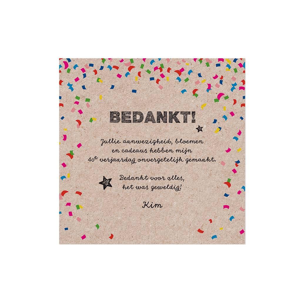 Belarto Jubileum Save The Date of bedankkaart CELEBRATE in  confetti (786559)