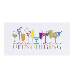 Belarto Jubileum 2016 Uitnodiging CELEBRATE met kleurige rij van drankjes
