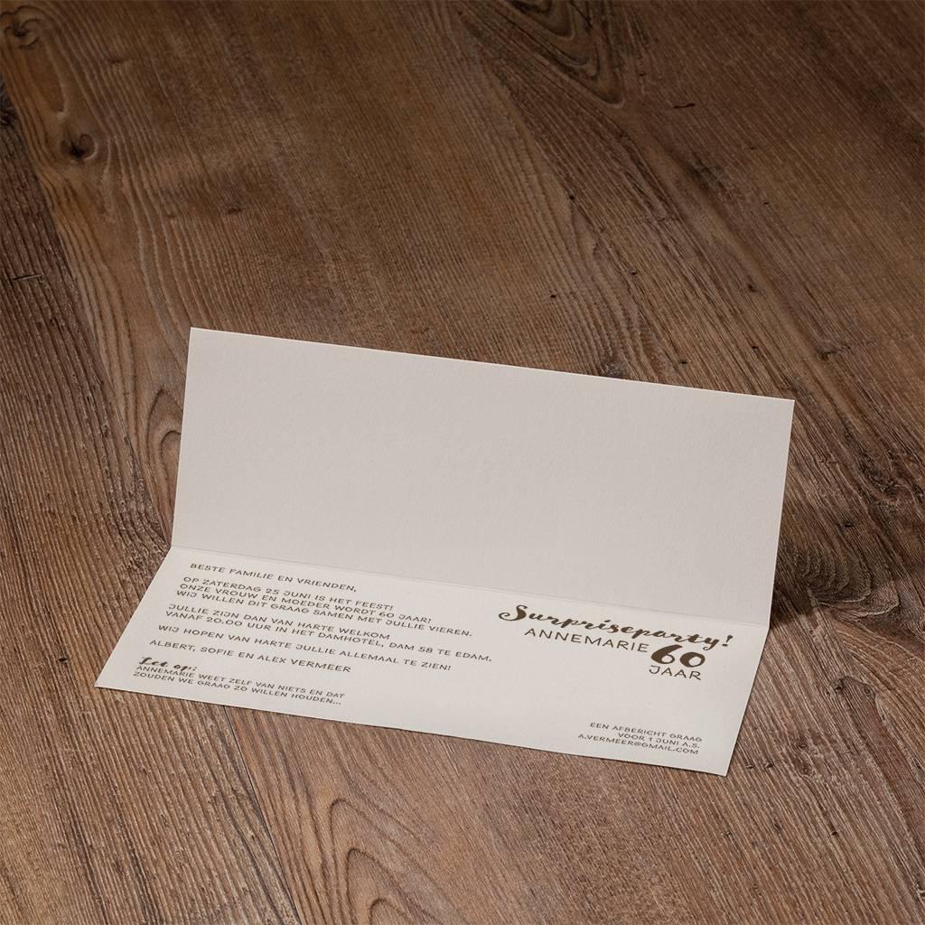 Belarto Jubileum Uitnodiging CELEBRATE met speelse confetti (786063)