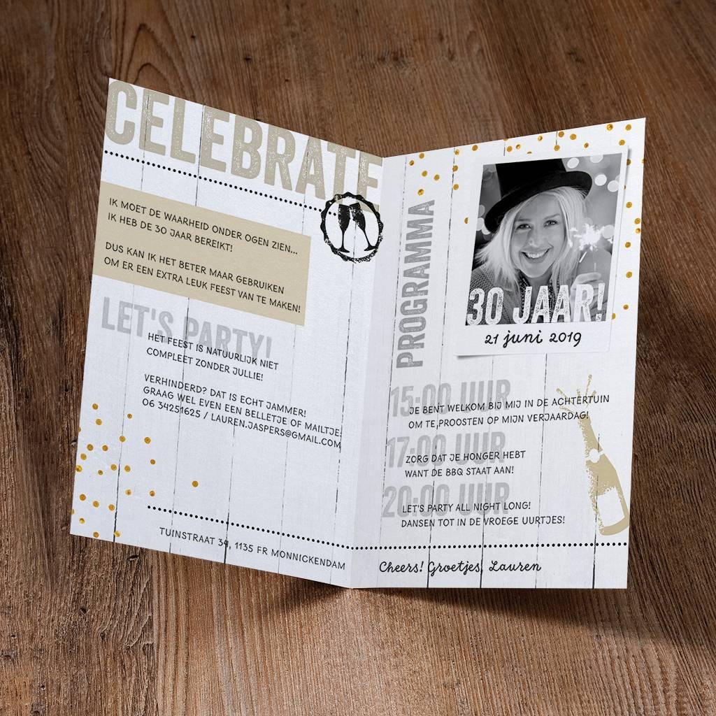 Belarto Jubileum Uitnodiging CELEBRATE magazinestyle  (786062)