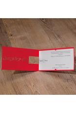 Belarto Jubileum Uitnodiging CELEBRATE stijlvol rood met stans  (786021)