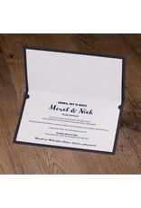 Belarto Jubileum Uitnodiging CELEBRATE stijlvolle vouwkaart met inlegvel (786011)