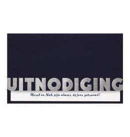Belarto Jubileum 2016 Uitnodiging CELEBRATE stijlvolle vouwkaart met inlegvel
