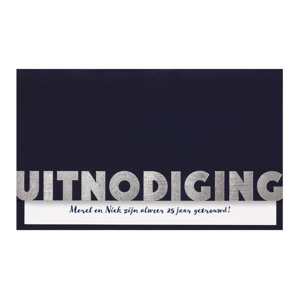 Belarto Jubileum 2016 Uitnodiging CELEBRATE stijlvolle vouwkaart met inlegvel (786011)