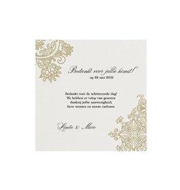 Belarto Jubileum 2016 Save The Date of bedankkaart elegant met barok details