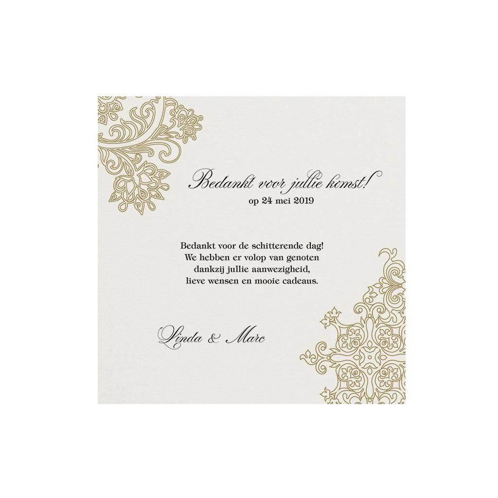 Belarto Jubileum 2016 Save The Date of bedankkaart elegant met barok details (786595)