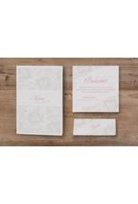 Belarto Jubileum 2016 Uitnodiging chic met sierlijk barokpatroon en transparant papier (786040)