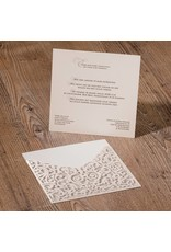 Belarto Jubileum Uitnodiging ELEGANT met barok-omslag en lint (786034)