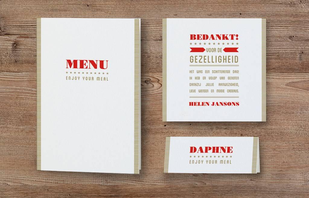 Belarto Jubileum 2016 Tafelkaart SPECIAL typografie  (786773)
