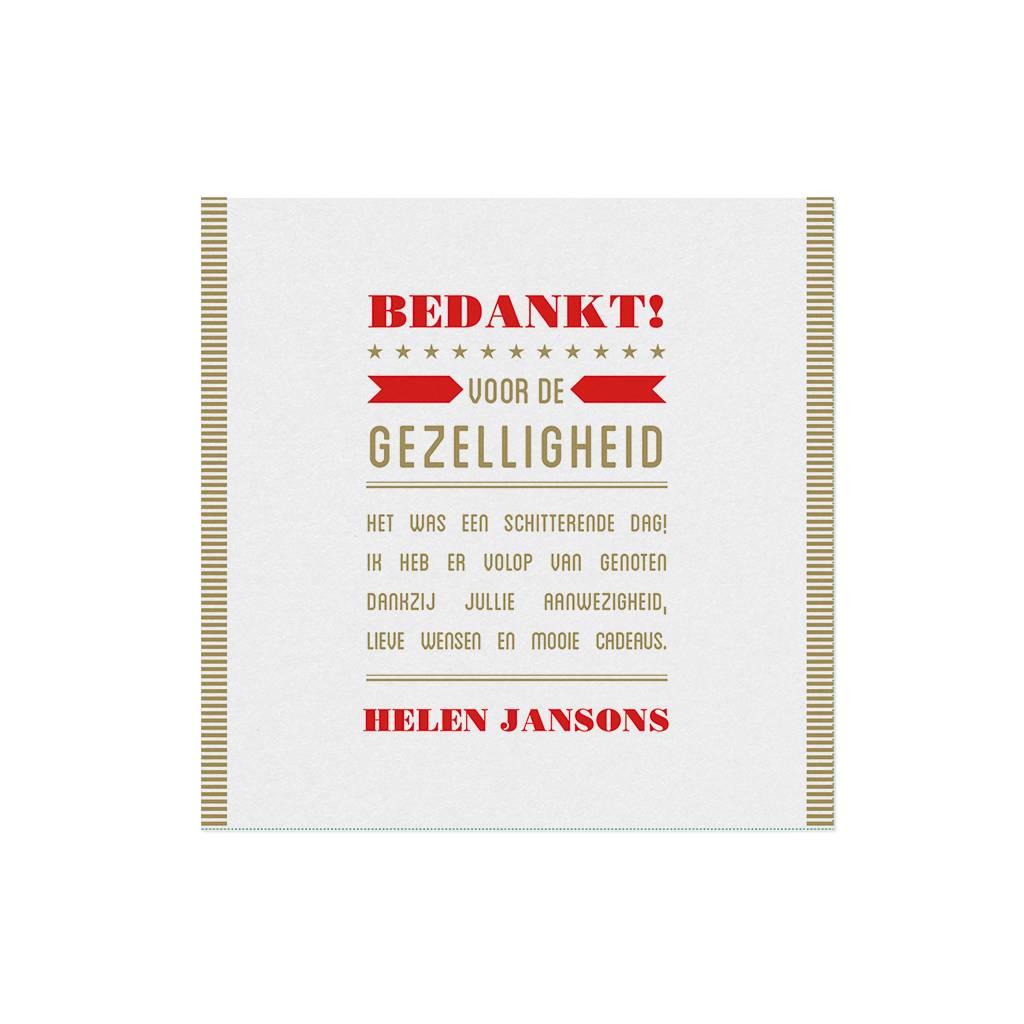Belarto Jubileum Save The Date of bedankkkaart SPECIAL typografie  (786573)