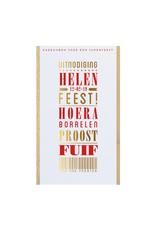 Belarto Jubileum 2016 Uitnodiging 'special' typografie  (786073)