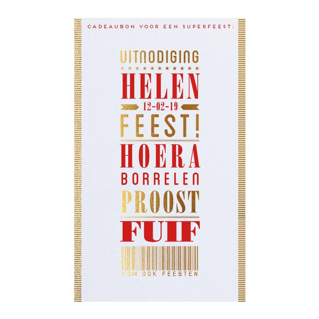 Belarto Jubileum Uitnodiging 'special' typografie  (786073)