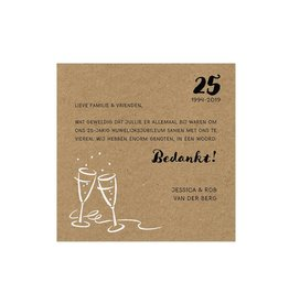 Belarto Jubileum Save The Date of bedankkaart CHEERS kraft