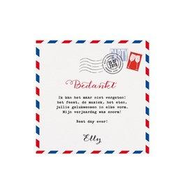 Belarto Jubileum 2016 Save The Date of bedankkaart special postkaart