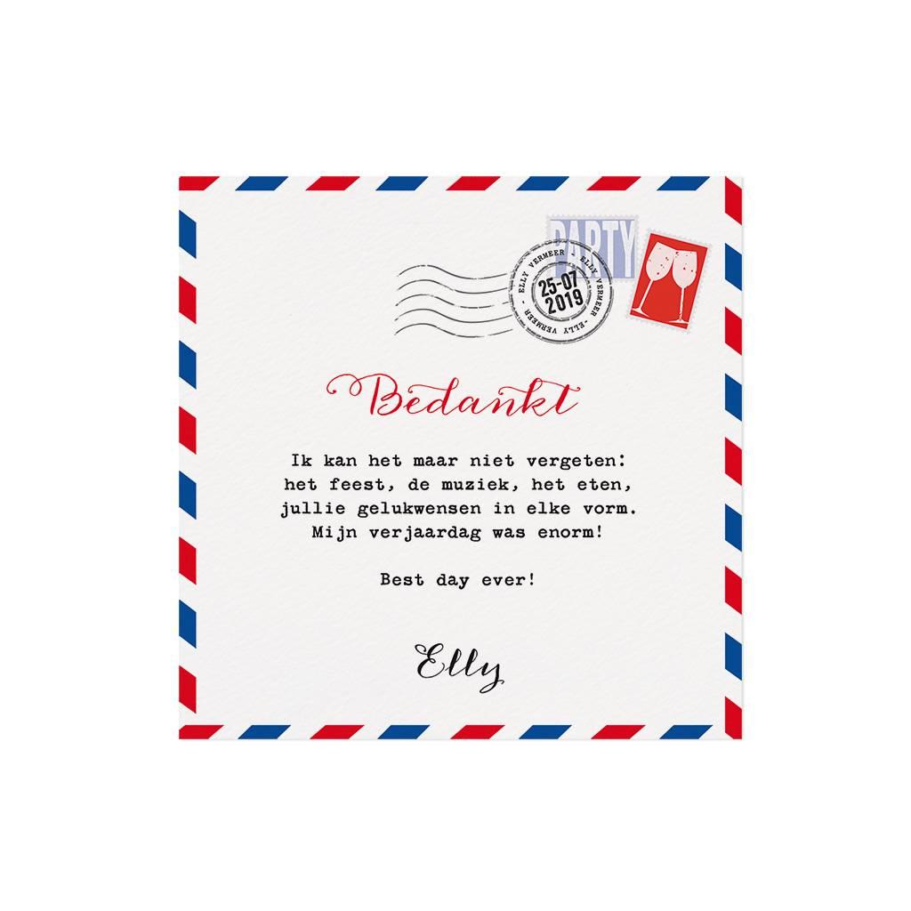 Belarto Jubileum 2016 Save The Date of bedankkaart special postkaart (786570)