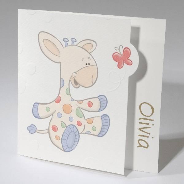 Familycards Small World Geboortekaartje Baby & Giraf (61633)