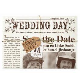 Belarto Bohemian Wedding Trouwkaart - Het mag in de krant