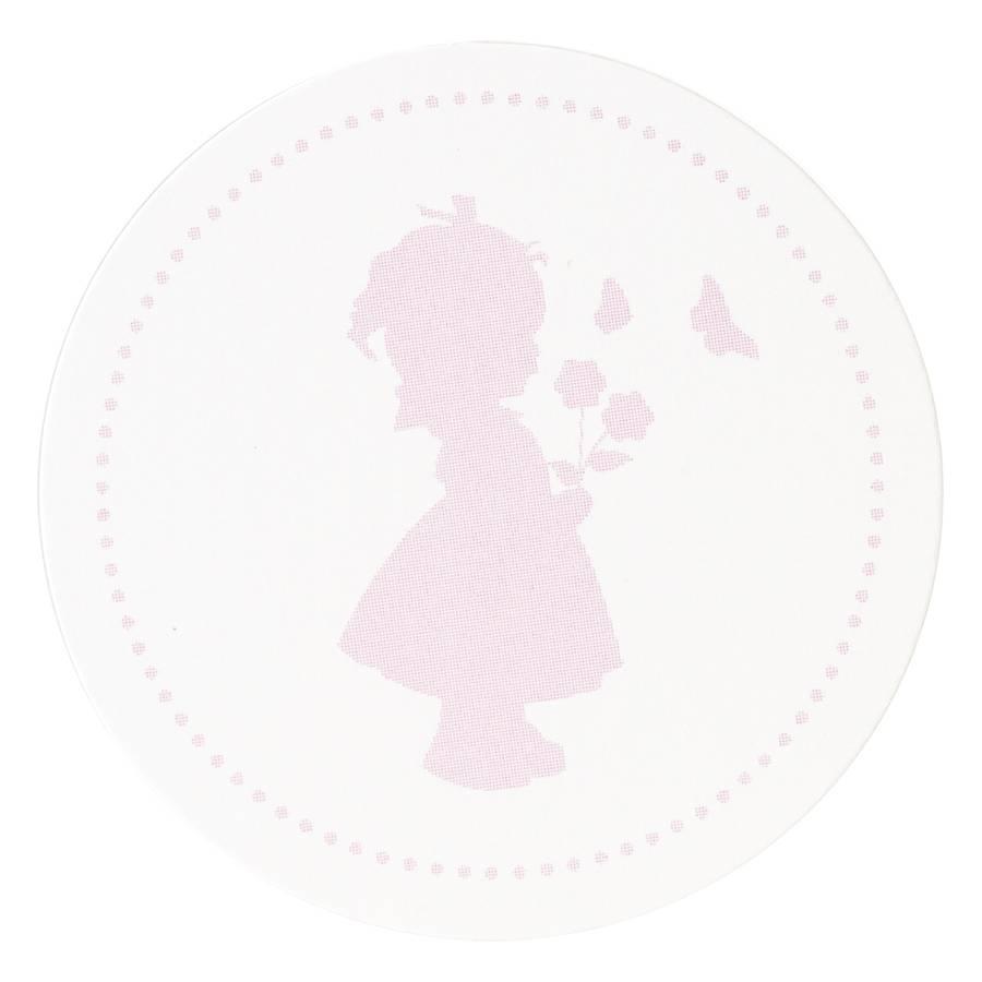 Buromac Pirouette Sluitzegels meisje roze per vel van 10 stuks